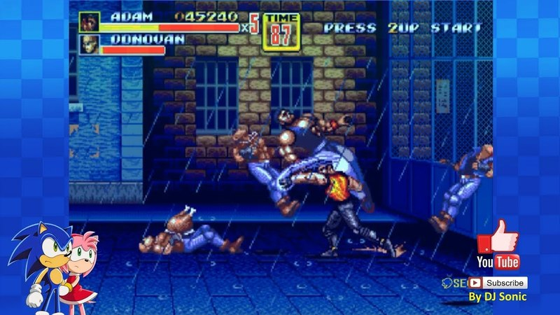 Adam Edition of SOR 2 Streets of Rage 2 Hack Sega Walkthrough