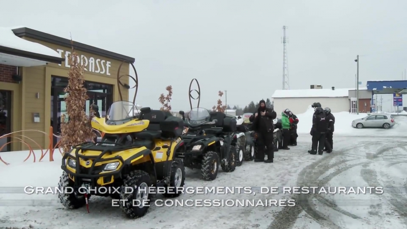Quad Hiver (VTT, 4 roues) dans la région Chaudière-Appalaches, Québec, Canada