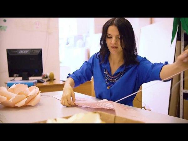 Пушистая серединка собирает Светлана Копцева. цветы из бумаги