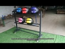 Wall Ball Storage Rack display Crossfit Gym Equipment Supplier
