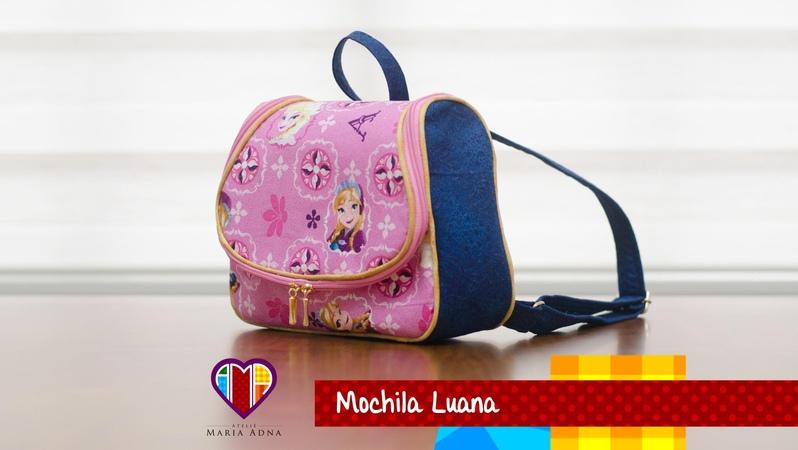 Aula em vídeo da bolsa mochila infantil de tecido Luana. Backpack for children. Backpack for kids