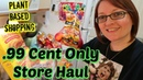 .99 Cent Only Store Haul | Plant Based Shopping