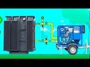 Дегазация масла силовых трансформаторов. Подключение установки УВМ-4/7 к трансформатору
