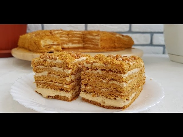 Медовик Тающий во ртуАсалли торт осонгина усули