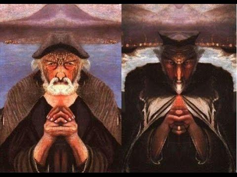 Тень черных крыльев Тайны мира Картина «Старый рыбак» Дьявол