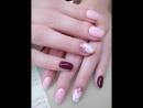 Художественная роспись ногтей с эффектом натурального камня!