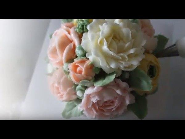 이탈리안머랭 버터크림플라워 당근케이크 만들기 How to make buttercream flower cake
