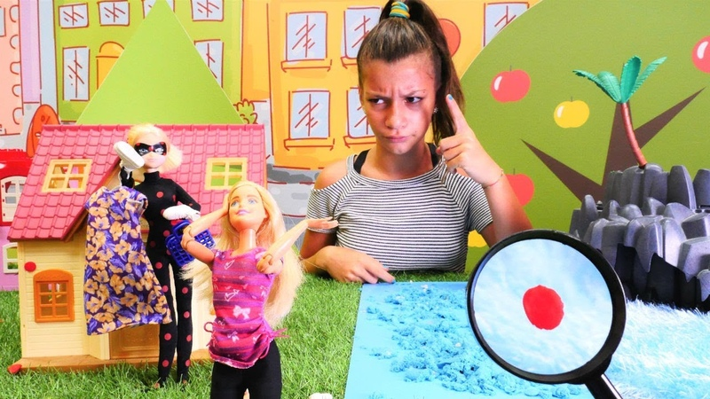 Barbie ve Marinette sinemaya gidiyorlar! Dedektif oyunları!