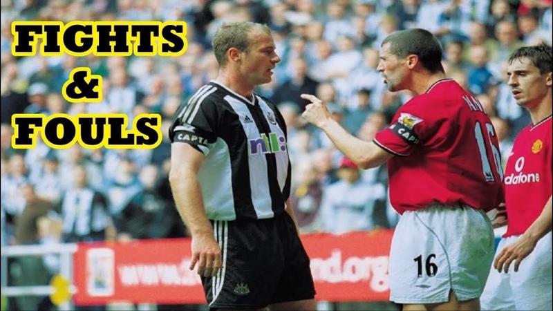Roy Keane ● Fights, Fouls Red Cards ● Peleas y Faltas