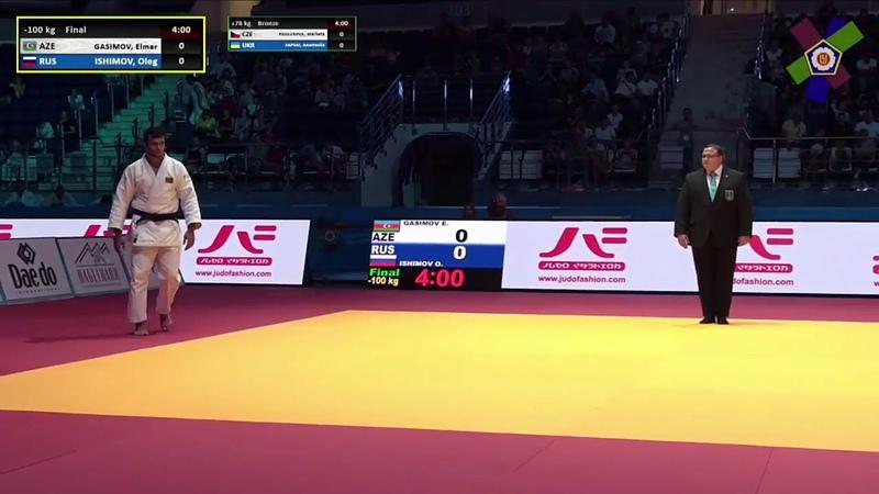 Gasimov E AZE Ishimov O RUS 1:0 -100kg Minsk European Open 2018 Final