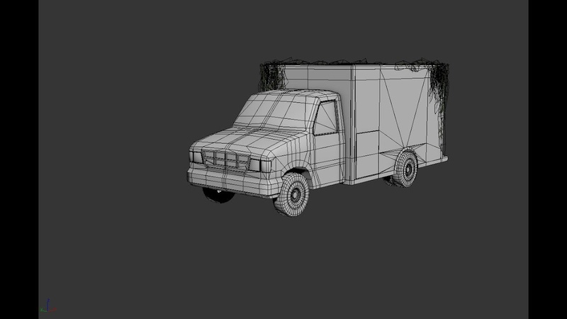 Modeling low poly Ambulance 3ds max tutorial part-2