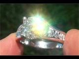 Certified VS1G Natural Diamond Engagement Anniversary Wedding 14k White Gold Ring - C917