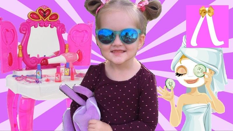 Волшебное превращение. Играем с косметикой для девочек в парикмахерскую. Kids Show Лапотуша.