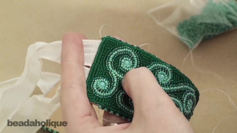 How to Finish Bead Embroidery That Has an Inserted Textile Piece