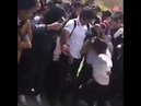 Guy gets hit in the balls during a girl fight!