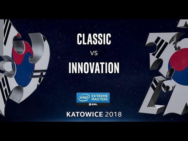 StarCraft 2 - Classic vs. INnoVation (PvT) - IEM Katowice 2018 - Korean Qualifier 1