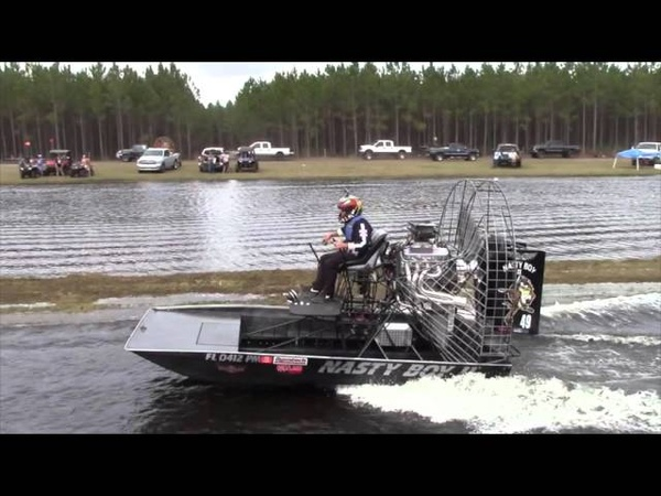 Airboat Racing at Hog Waller Mud Bog March 2016