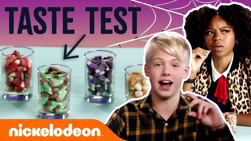 JoJo Siwa, Carson Lueders, Riele Downs More Do the Candy Corn Taste Test! 😋 | Nick