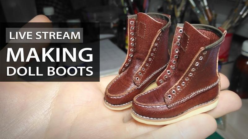 Making Doll Shoes Stream | Прямой Эфир: Делаю Обувь для Куклы