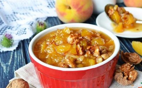 варенье из персиков с грецкими орехами приготовилa: вика василенко 3хотите удивить семью невероятно вкусным вареньем тогда вам просто необходимо заглянуть в мой рецепт и узнать, как приготовить варенье из персиков с грецкими орехами! вперед! я люблю