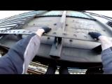 Еду на крыше товарного поезда ⁄ Руфрайд на грузовом составе %2F Не повторять!!!