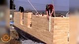 Деревянный кирпич, строительство дома