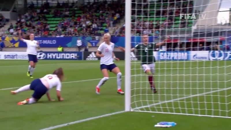 Gol Inglaterra x Mexico sub-20 feminino