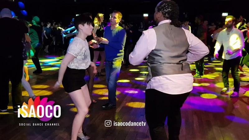 (Mobile Camera) Tatyana Gerasimenko and Marlon Salsa Dancing at SFS 2018 in Zurich, Fri 23.02.2018
