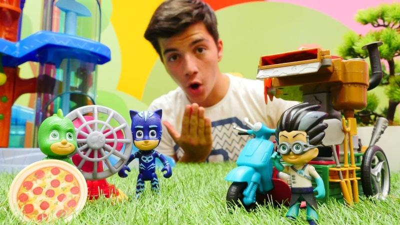 Pijamaskeliler çizgi film oyuncakları. Romeonun acılı pizzası