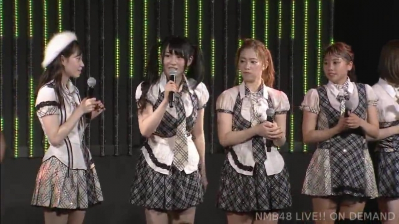 180628 NMB48 Stage BII4 Renai Kinshi Jourei. audience born in June. Ota Riona's Shonichi