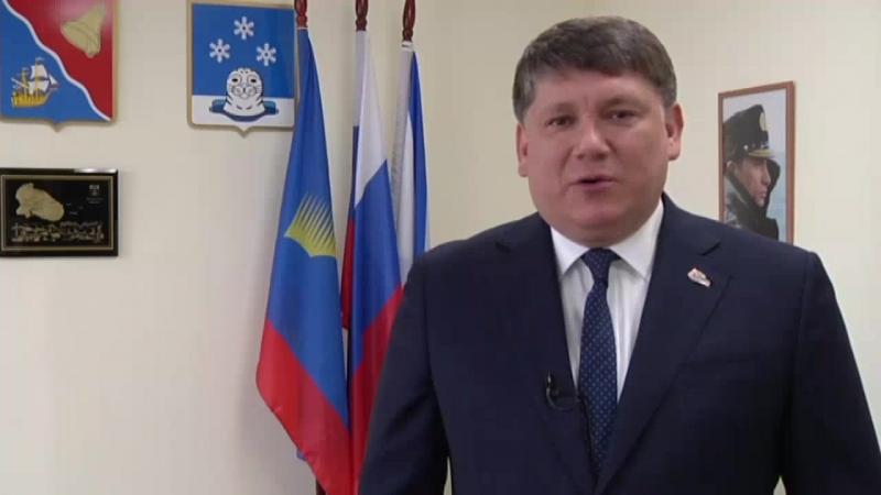 Поздравление с юбилеем города Снежногорска от главы администрации ЗАТО Александровск Семёна Каурова