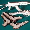 Резинкострелы, пистолеты и автоматы из дерева, С