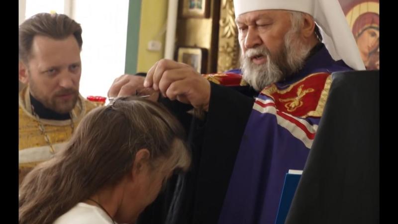 Постриг в малую схиму послушницы Ираиды