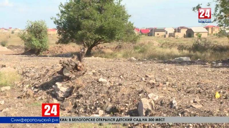 Посёлки Симферопольского района превращаются в место утилизации строительных отходов