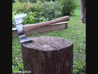 Как сделать топор из рельса