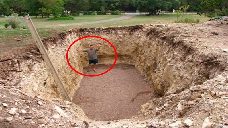 Все думали что он копает яму под бассейн Увидев что вышло в итоге они потеряли дар речи