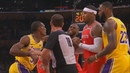 Rajon Rondo Throws Punch At Chris Paul After Brandon Ingram Shoves James Harden! Lakers vs Rockets