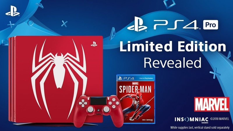 Marvel's Spider Man Limited Edition PS4 Pro Bundle