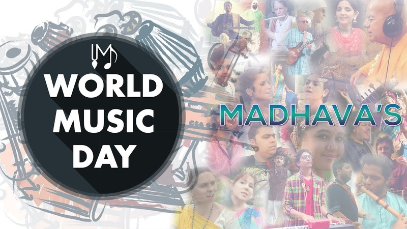 World Music Day 2018 Special - 40 Musicians Together - Hare Krishna Mantra - By Madhavas