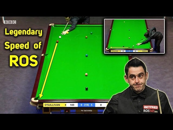 Legendary Speed of Ronnie O'Sullivan ᴴᴰ