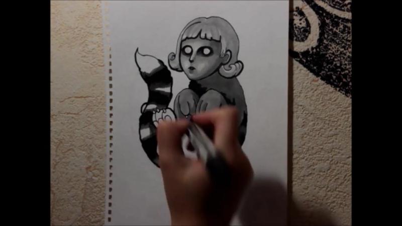 Видео-урок. Рисуем тату эскиз.