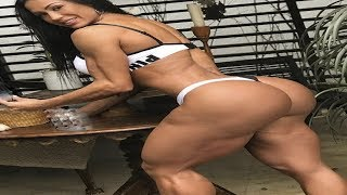 Super strong woman, glutes and legs Workout Bodybuilding