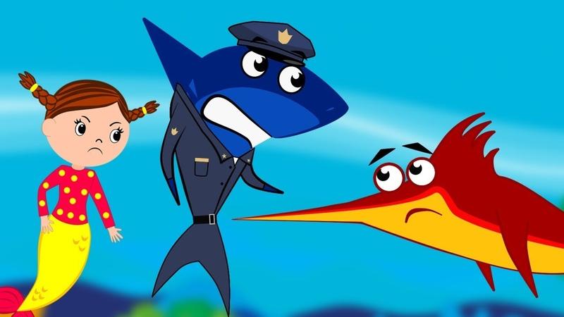 Police Mermaid Stop Swordfish Cutting Trees More Baby Shark Videos 7 Songs for Kids