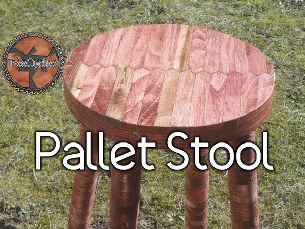Stool Built From 100 Pallet Lumber.