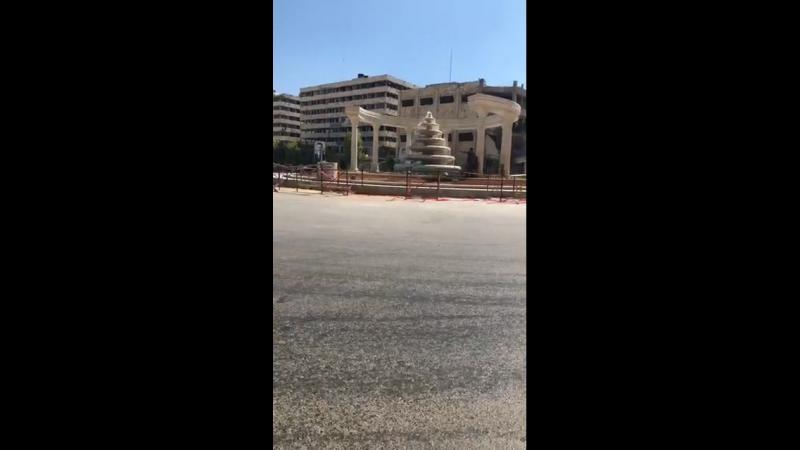 Фонтан Давар ас Сба Бхарат на кольцевом перекрестке в Алеппо