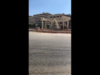 Фонтан Давар ас-Сба Бхарат на кольцевом перекрестке в Алеппо