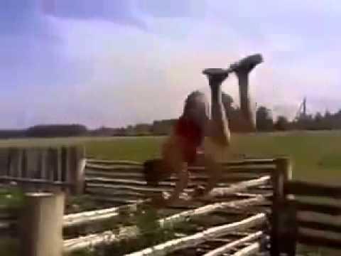 Вот и прыгнул через ограду) ))
