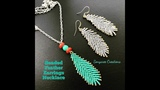 How to make Beaded Feather Earrings or Pendant