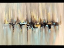 Skyline, abstract painting with Acrylic, abstract art, acrylpainting