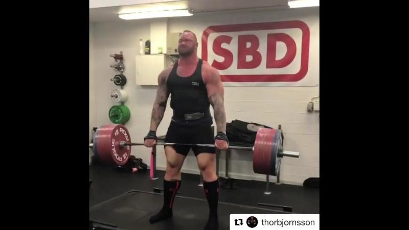 Тор Бьорнссон - тяга 400 кг на 3